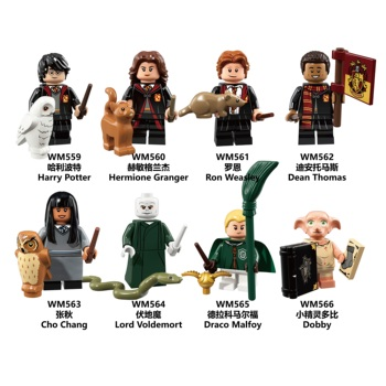 Harry Potter Dobby Moody Dumbledore Quirrell Filch Voldemort Dean Thomas Building Blocks mini Toys Gift for children