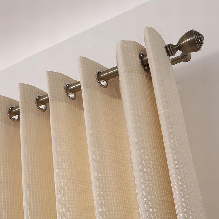 New square jacquard vanilla polyester dubai window hotel luxury blackout curtain