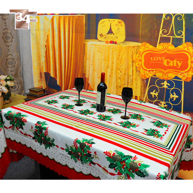 free ship hot sale red green floral print table cloth table cover nappe de table for christmas. Black Bedroom Furniture Sets. Home Design Ideas