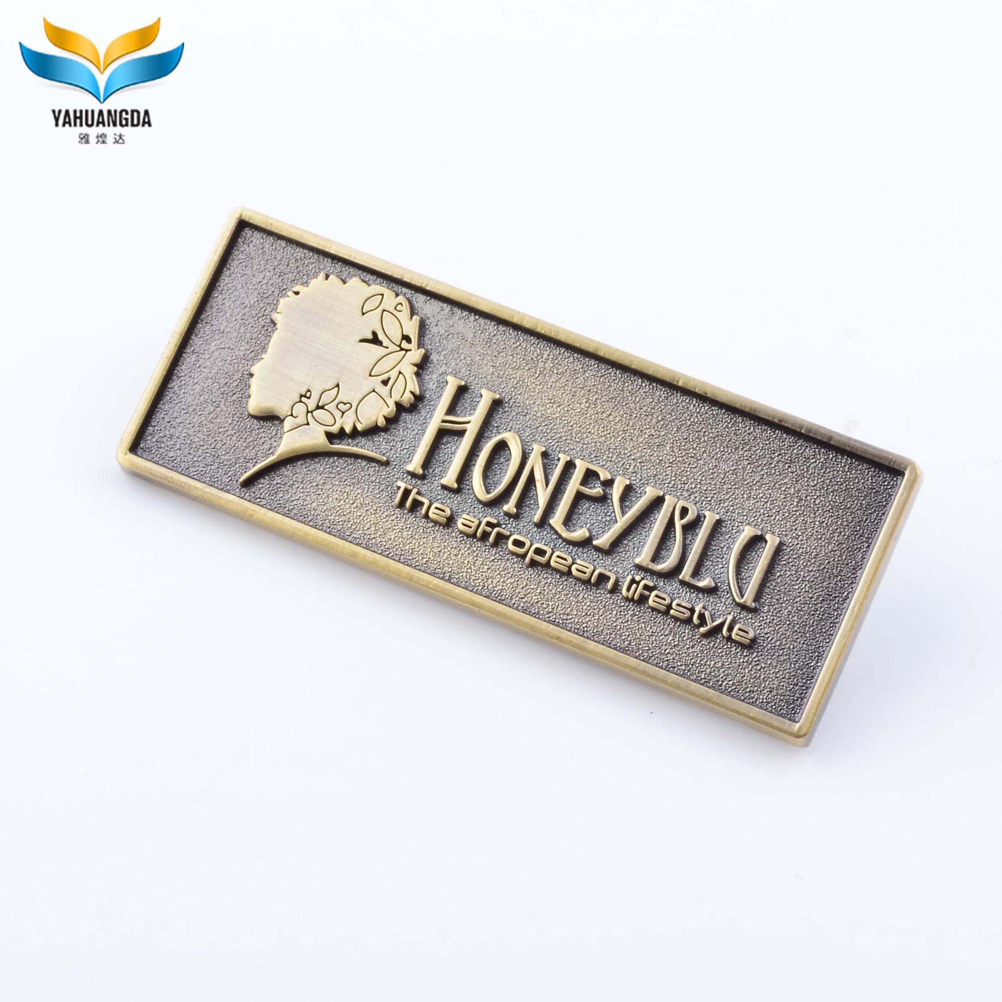 High Quality Custom Metal Name Plates Brand Logos For Handbags Buy Metal Plates For Handbags Metal Name Plates For Handbags Custom Metal Plates Brand Logos Product On Alibaba Com