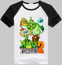 2015 plants vs zombies boys girls t shirt 100 cotton summer children t shirts kids t