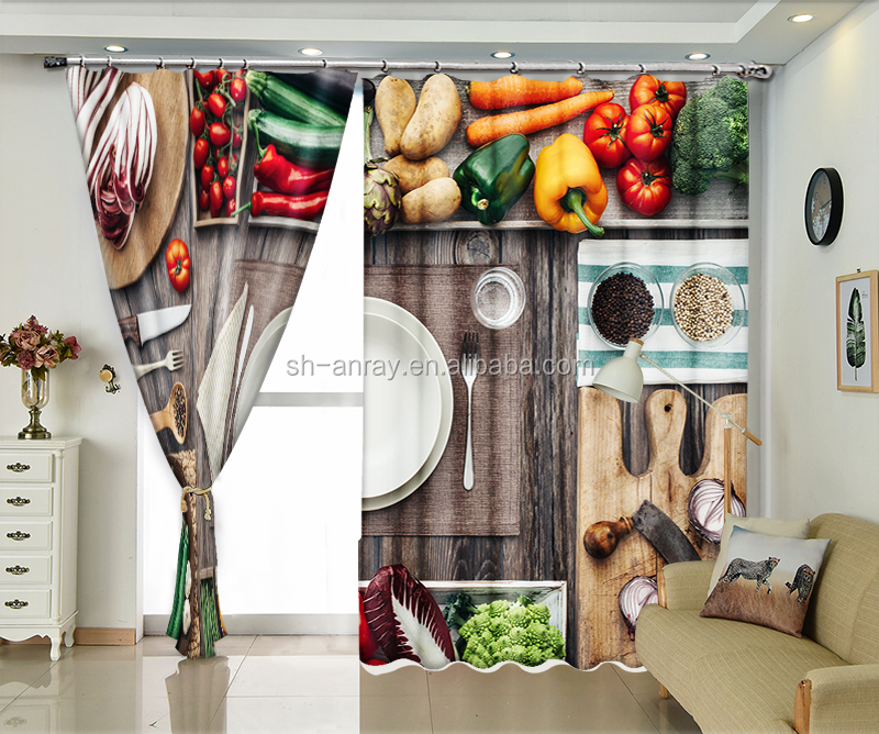 Vegetable Decoration Figure Export 3d Kitchen Curtain Buy Photo Curtains 3d Digital Printing Three Dimensional Curtains Blackout Curtains Product On Alibaba Com