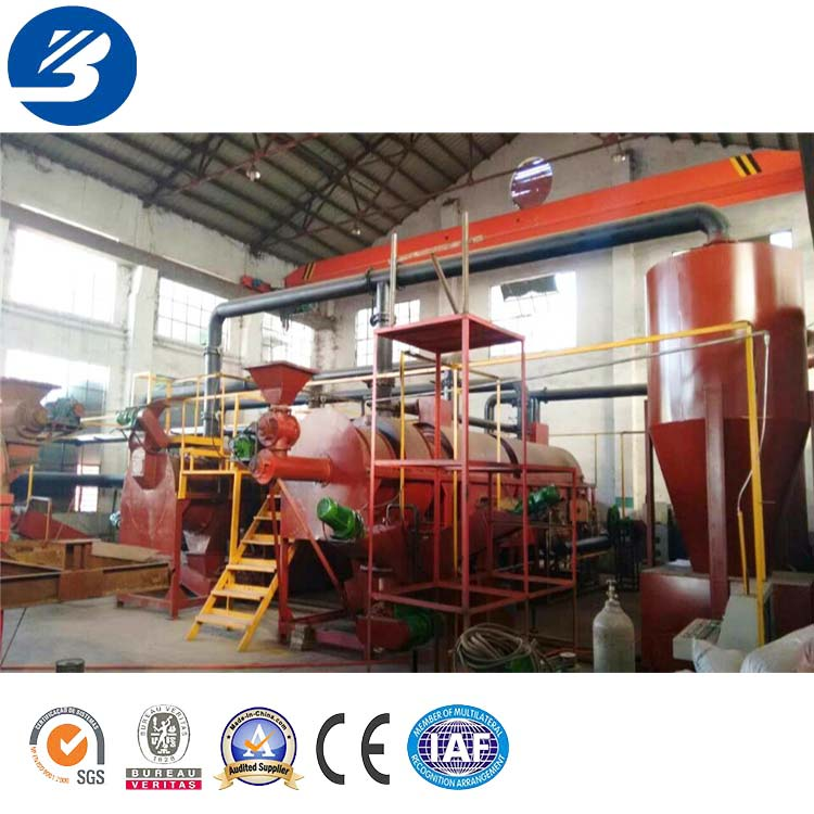 Coconut Shell Charcoal Making Production Line Carbon Steel with CE ISO 1200kg/h 15cube Meter 18.5kw/h / Provided 1.6*2.2*8.5 M