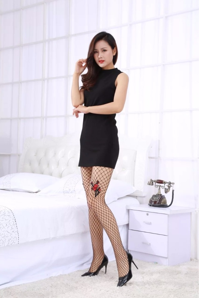 fishnet pantyhose with flower ladies tights school girls pictures sexy pantyhose leggings