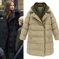 Women Winter Jackets And Coats With Thick Cotton padded Jacket Knitting Hat Collar Plus Size Women