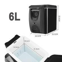 Мини холодильник 12V холодильник нагреватель 6L автомобильный мини-морозильник охладитель и грелка, электрический холодильник портативный х...(Китай)