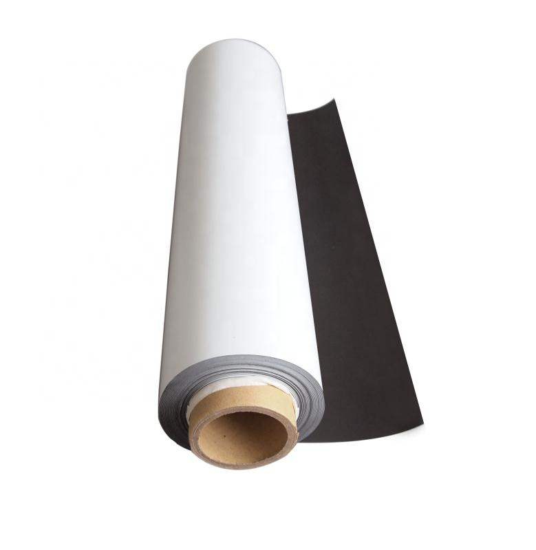 Wholesale High Quality Rubber Magnet Roll with White Vinyl