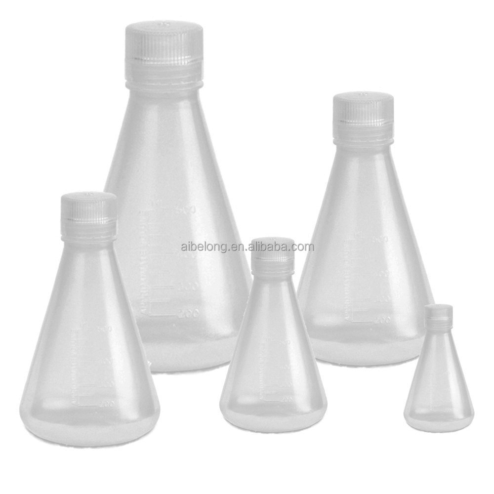 IBELONG high quality 100ml plastic conical flask with cap