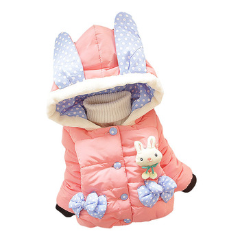 New Style Child Winter Warm Princess Hoodie Coat children outerwear Jacket baby winter coats