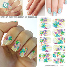 Waterproof nail stickers and selling the move water make-up nail art decal sticker decorations-free Nail Polish KH017A