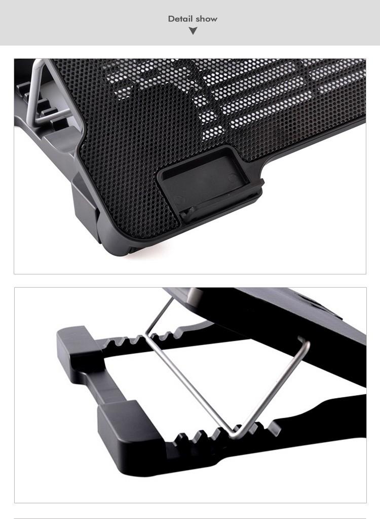 Idock n8 светодиодные usb охлаждения вытяжной вентилятор для ноутбука охлаждающая подставка Оптовая продажа, изготовление, производство