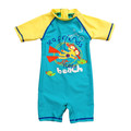 Kids Swimsuit One Piece Anti UV Boys Bathing Suit Surf Clothes Surfing Swimwear Ocean Printed High