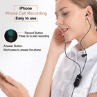 Phone Recorder Iphone Phone Recorder Multi-function Voice Recording Earphone Cell Phone Call Recorder For IPhone
