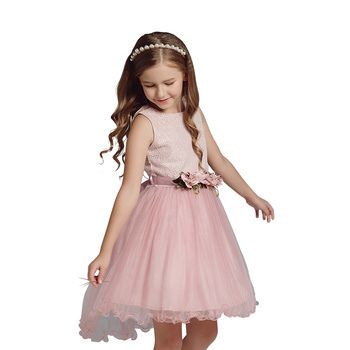 One Piece Dress Pattern Baby Girl Party Dress Children Frocks Designs