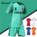2016 2017 High Quality Blank Soccer Jersey Short Sleeved Quick Dry Men Soccer Jersey Sports Fitness