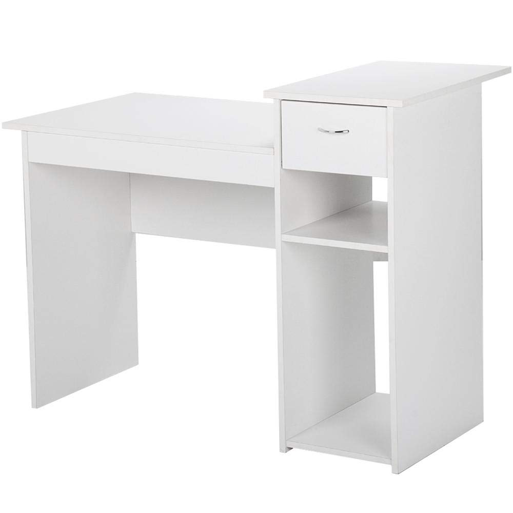 Modern White Computer Desk With Drawers And Printer Shelves Study Writing Table Workstation For Small Space Home Office Wood View Mdf White Computer Desk Joysourcefurniture Product Details From Shandong Joysource Wood Co