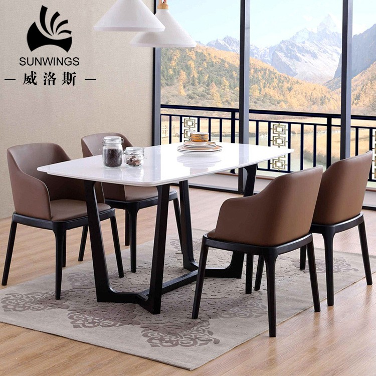 Best Quality Sunwings Furniture Marble Dining Table Wood Leg Buy Tapered Wood Furniture Legs Solid Wood Dining Table Marble Dining Table And Chairs Product On Alibaba Com
