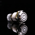 A24 White Light Hot Car Auto Metal LED Power Push Button Switch Latching Type On off