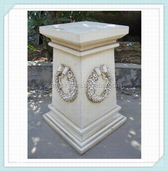 Square White Wedding Decorating Roman Pillar
