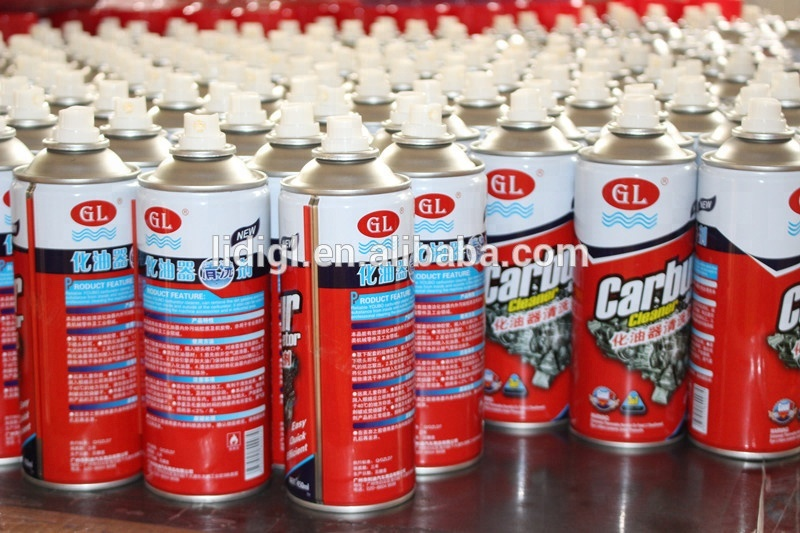 GL 250ml 450ml car aerosol carb cleaner spray with free samples and design