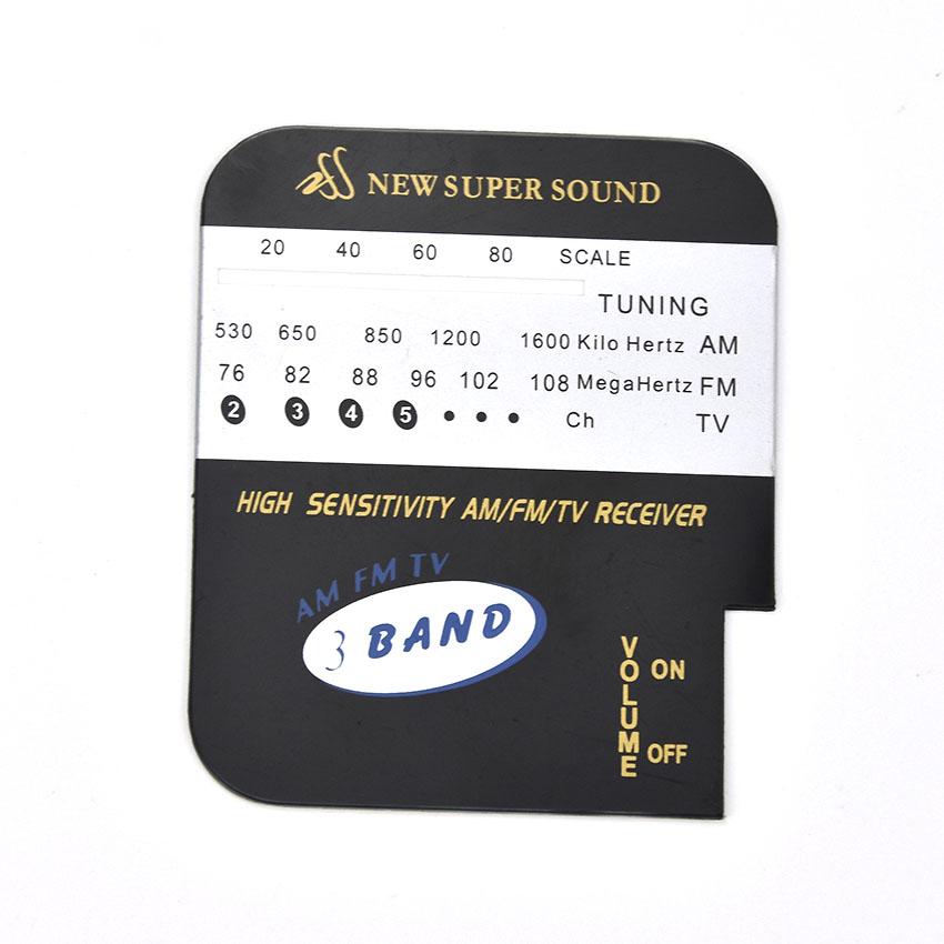 Акриловая графическая передняя панель управления для радио индивидуального размера