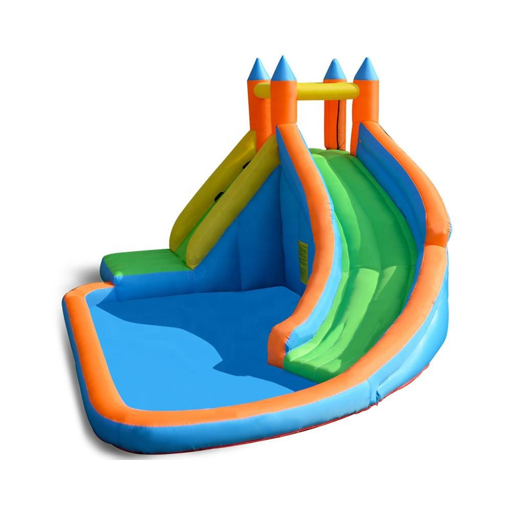 Small Inflatable pool slide home use inflatable water slides jumping house durable blue inflatable pool