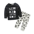 2016 New Baby Boys Children Tracksuit Casual Clothing Children T shirt Kids Pants 2 pcs kids