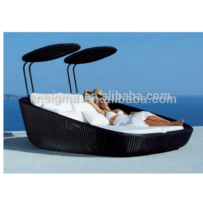 Уличная мебель, современная удобная садовая мебель, диван-кровати из ротанга