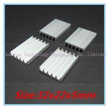 (10pcs/lot) 32x22x5mm Aluminum heatsink radiator for chip  computer 's component  heat dissipation