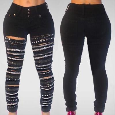 Pantalones Vaqueros Rasgados Con Agujeros Deshilachados Para Mujer Vaqueros Con Cadenas Sexy Zh3047a Buy Women Jeans Jeans With Chains Skinny Women Jeans Product On Alibaba Com