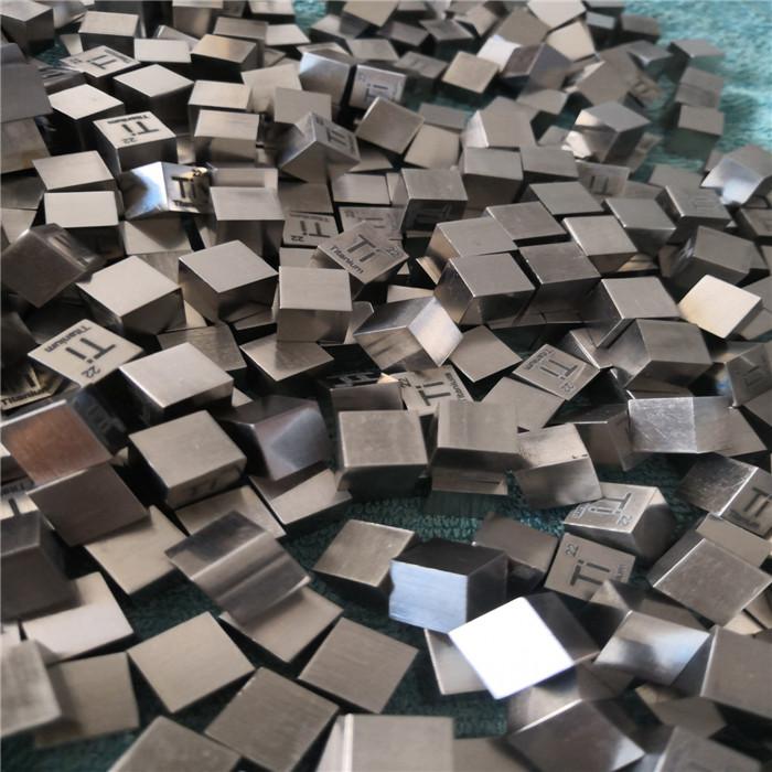 Титановый блок титановые кубические элементы металлический кубик цена за кг с лазерной гравировкой