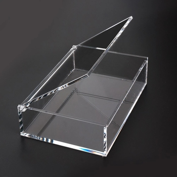 Transparent Acrylic Poker Display Box With Lid/top grade Poker Box/Lucite Playcards Box