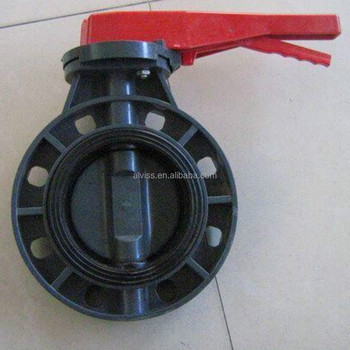 dn150 butterfly valve pvc for chemical industry