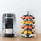 Wire Holder Amazon Hot Sale Metal Wire Iron Foldable Revolving Carousel 36 Pods K-cup Lavazza Coffee Capsule Pod Holder