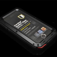 RJ case For iPhone5 Waterproof shock dirt proof Phone case For Apple iPhone 5G 5 5S Aluminum cover Cases Phone housing
