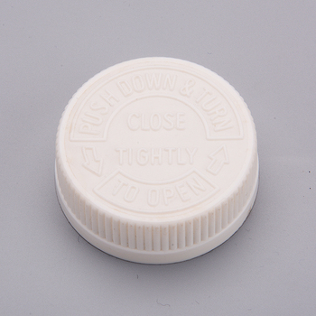 20mm 24mm 28mm 32mm 38mm 45mm Plastic Child Proof Resistance White Cap