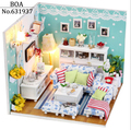 Christmas Birthday Gift Diy Doll House 3D Handmade Wooden Assembles Model Building Kits Miniature Dollhouse butterfly