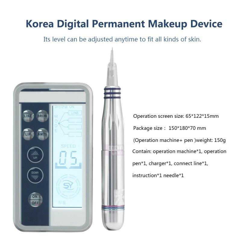 Новейшая мини-машинка для перманентного макияжа и цифровая машинка для татуировок для перманентного макияжа для салона красоты