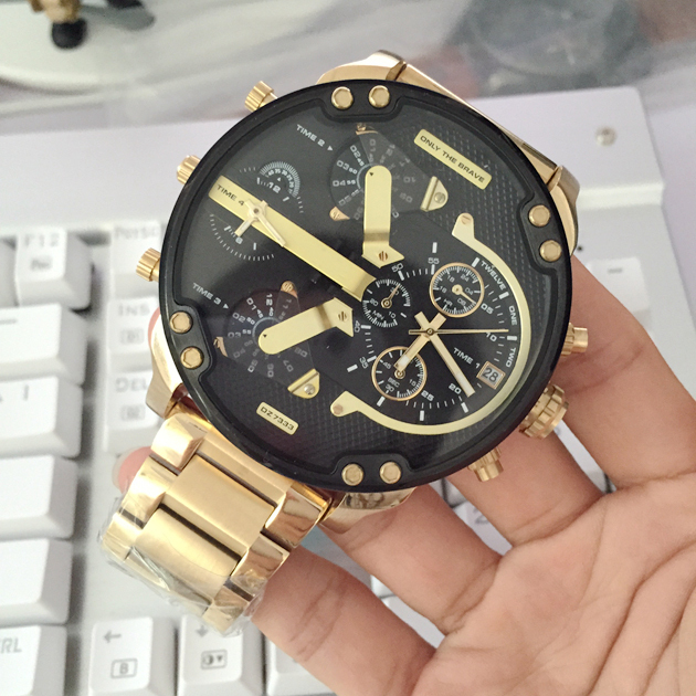 797b98cb254 Walmart  Relógio Diesel Dourado Mr. Daddy DZ7333 - R  2425
