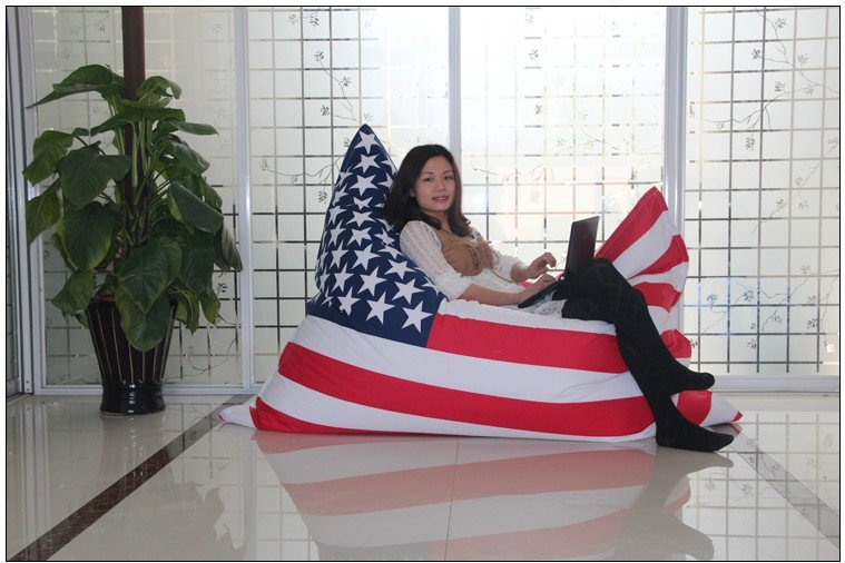 usa flag bean bag cover bean bag chair on sale cover only in living room chairs from furniture. Black Bedroom Furniture Sets. Home Design Ideas