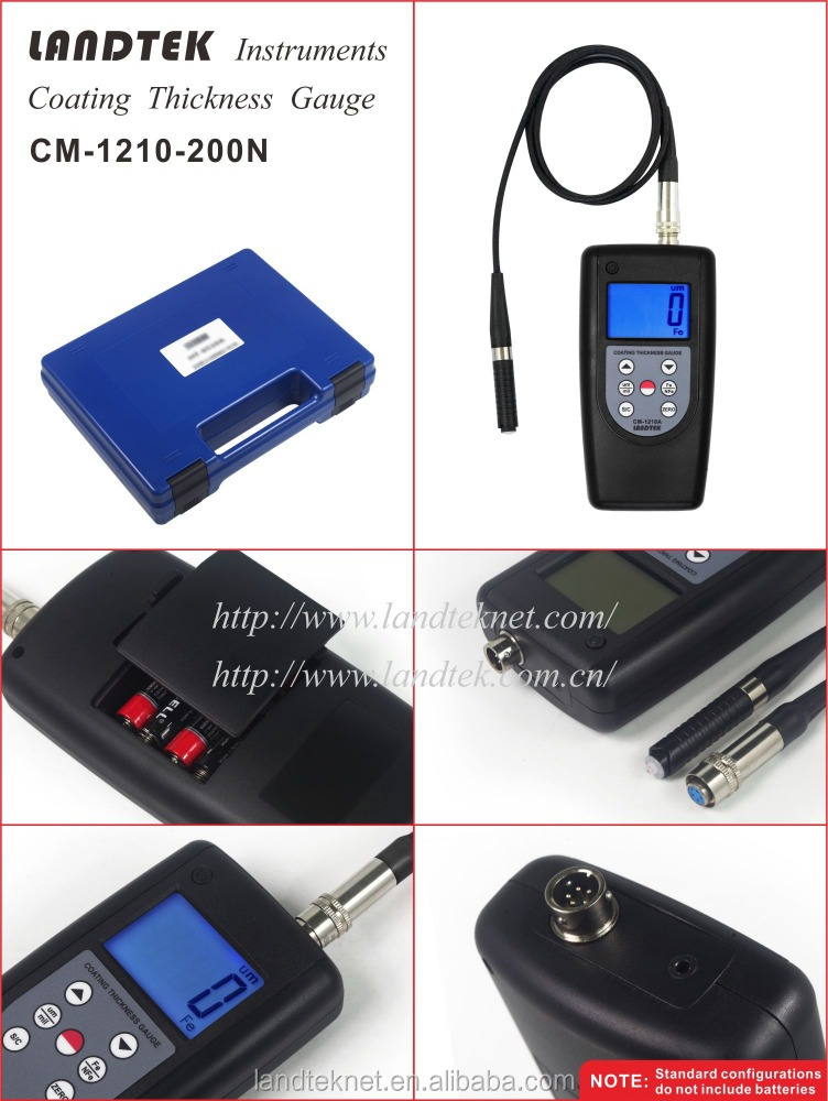 Micro Thickness Gauge for Coating On Small Workpiece Eddy Current CM-200N range 0-200um