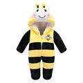 8 Style New Year Lovely Gift Baby Animal Romper Jumpsuits Newborn Baby Cartoon Animal Costume Thick