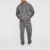 oem fashion contrast side stripe drawstring hoodie with jogger sets mens fall tracksuit
