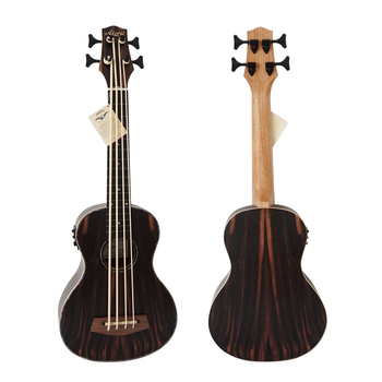 Aiersi wholesale Price Spalted Maple Body Electric Bass Ukulele BU-33