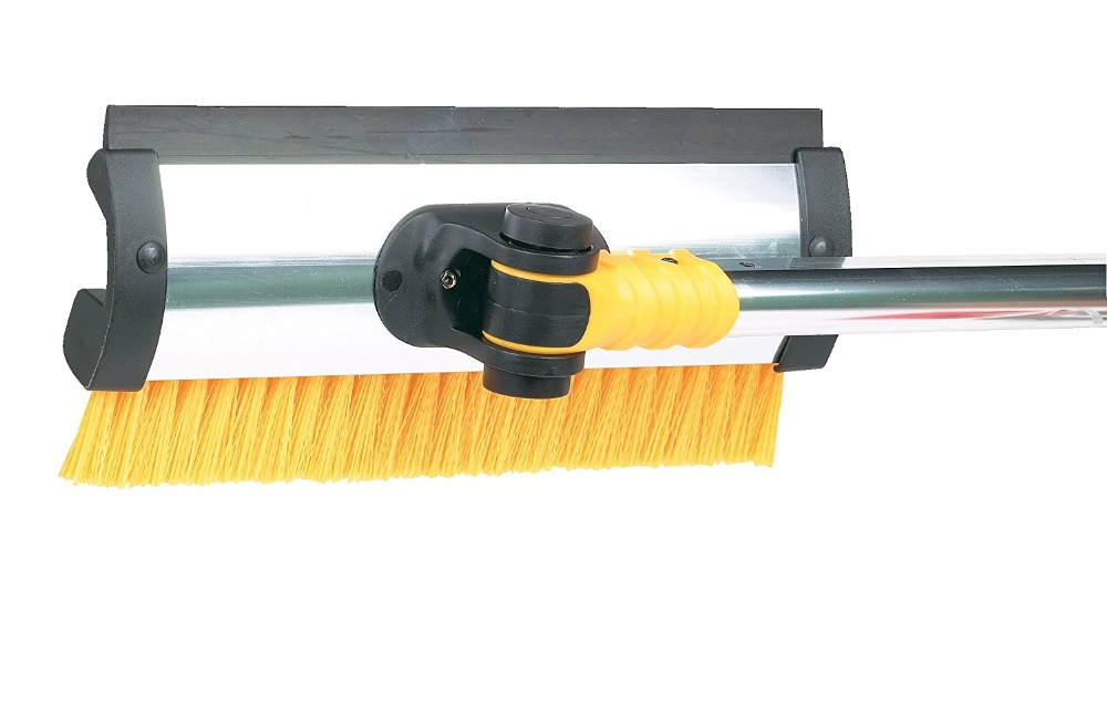 telescopic extendable snow removal car ice scraper with brush