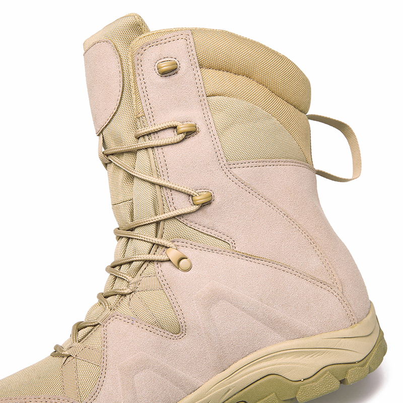 Xinxing Tactical Boots Khaki Desert Boot for Army Police Outdoor Activities MB65