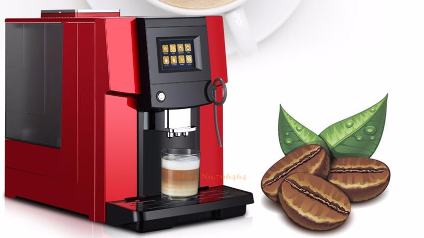 New One touch Commerical heat system Fully automatic LCD espresso coffee machine & coffee grinder 19 bar cappuccino/latte maker-coffee machin-machine belt-machine made hair weft - AliExpress - 웹