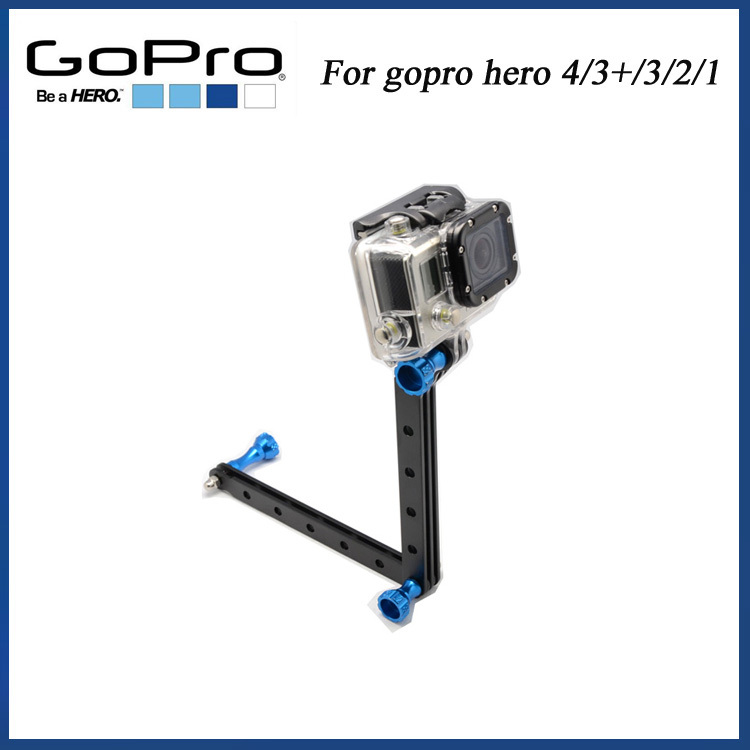 5 Pcs/lot Gopro Camera Accessories CNC Aluminum Arms And Screw For Gopro HD