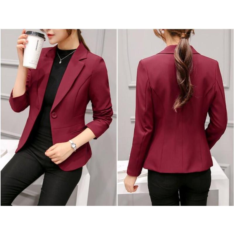 Весенне-осенний женский пиджак YSMARKET, 6 цветов, Женский приталенный пиджак, женский пиджак на одной пуговице с длинным рукавом