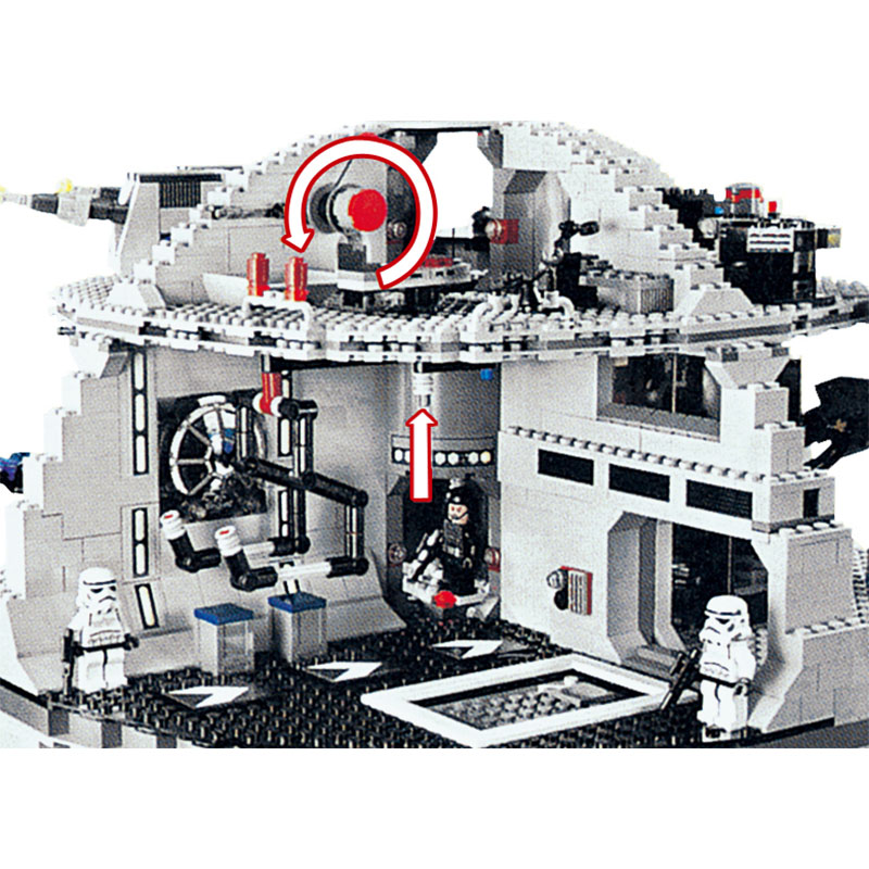 Technic Death Star Model building blocks compatible lego blocks